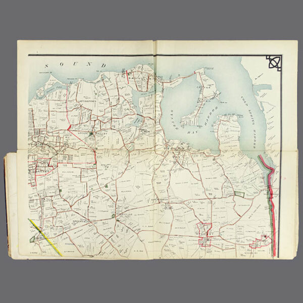 E. Belcher Hyde, Real Estate Map, Nassau County, Long Island, N.Y., Library Form, upper right map