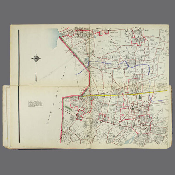 E. Belcher Hyde, Real Estate Map, Nassau County, Long Island, N.Y., Library Form, middle left map