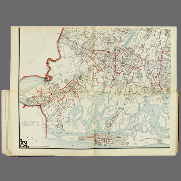 E. Belcher Hyde, Real Estate Map, Nassau County, Long Island, N.Y., Library Form, lower left map