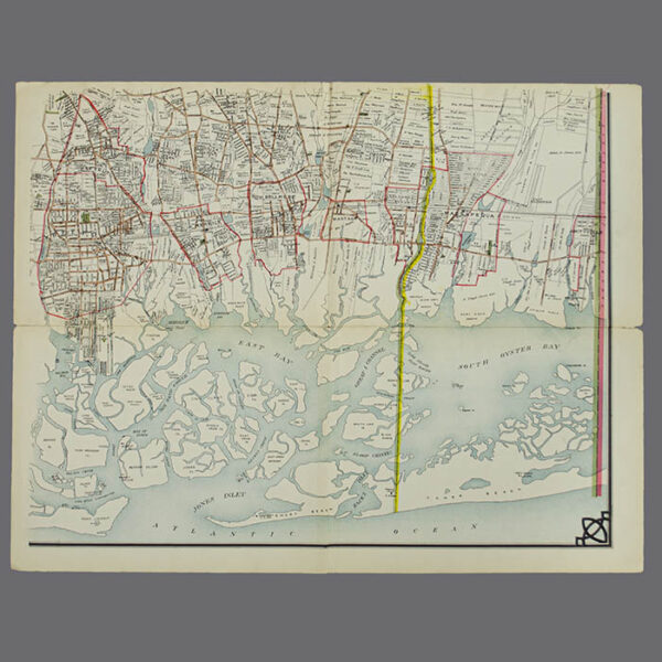 E. Belcher Hyde, Real Estate Map, Nassau County, Long Island, N.Y., Library Form, lower right map