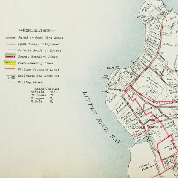 E. Belcher Hyde, Real Estate Map, Nassau County, Long Island, N.Y., Library Form, detail