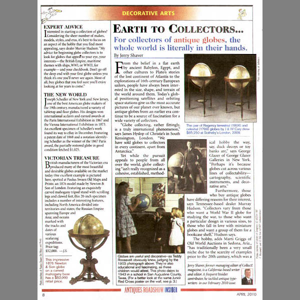 Antiques Roadshow Insider article