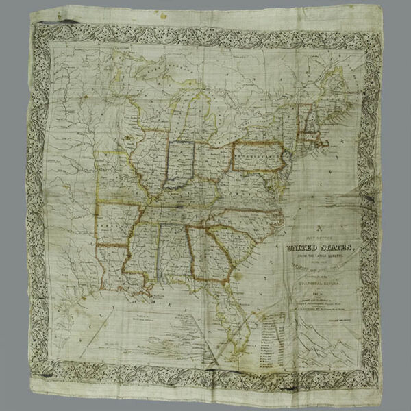 Cloth Map of the United States, from the Latest Surveys, 1840s
