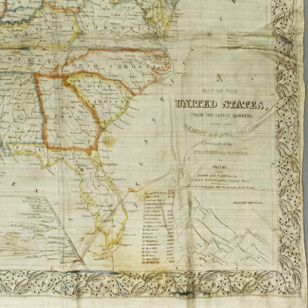 Cloth Map of the United States, from the Latest Surveys, 1840s, detail