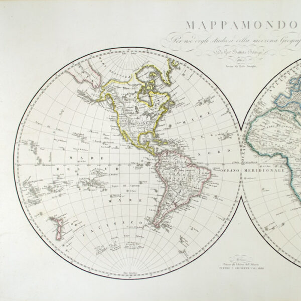 Pietro e Giuseppe Vallardi, Mappamondo, detail
