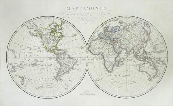 Vallardi Mappamondo World Map