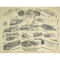 Brooks Bank Note Advertising Broadside