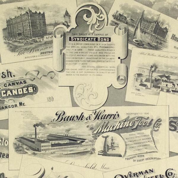 Brooks Bank Note Advertising Broadside, detail