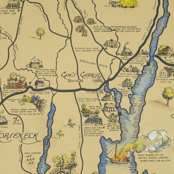 Greenwich Connecticut at the Time of Ye Revolution, 1775-1800, detail