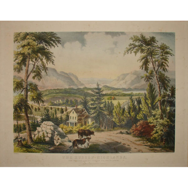 Fanny Palmer, Hudson Highlands, Currier & Ives print