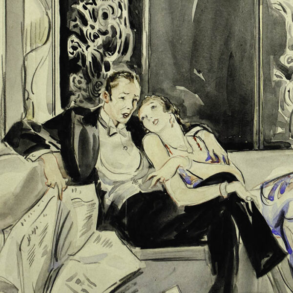 May Wilson Preston, [Lounging Couple after a Party], detail