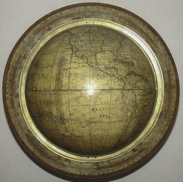 Bardin 9-Inch Terrestrial Table Globe, detail