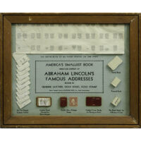 Promotion for Miniature Book of Abraham Lincoln's Famous Addresses