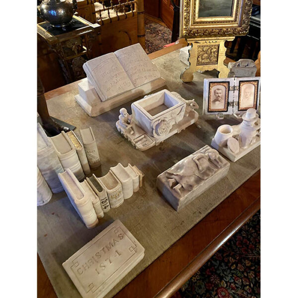 Marble Book from George Glazer Gallery (upper center) as displayed in client's home