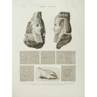 Thèbes, Memnonium,  Part A, Volume II, Plate 32 [Statue and Tomb of Osmandias, Luxor, Egypt]