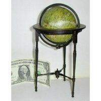 Newton 3-Inch Celestial Globe on miniature mahogany floor stand
