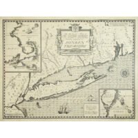 An Authentic Map of the Eastern Seaboard from Gloucester to Delaware Bay Showing Locations of Sunken Treasure