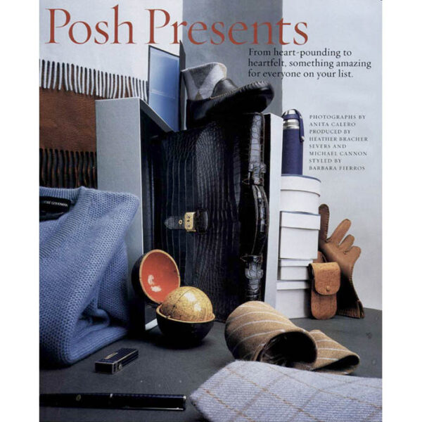 Town & Country Magazine, Posh Presents feature, December 2000