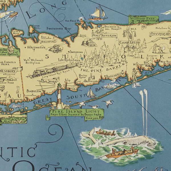 A Map of Long Island, detail