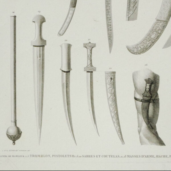 Vessels, Furnishings, and Instruments: Mamluk Weapons, detail