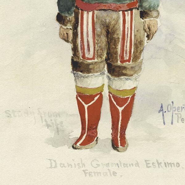 Danish Greenland Eskimo, Female [Inuit Woman], detail
