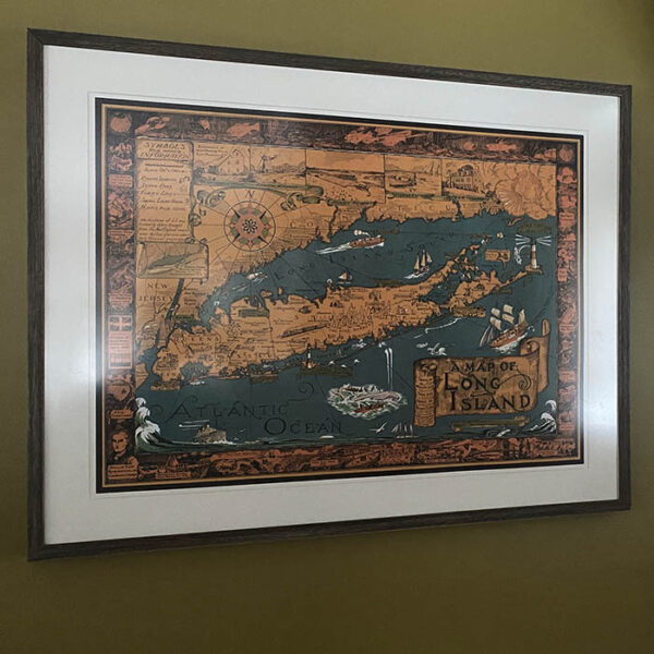 Courtland Smith map purchased from George Glazer Gallery, in private home.