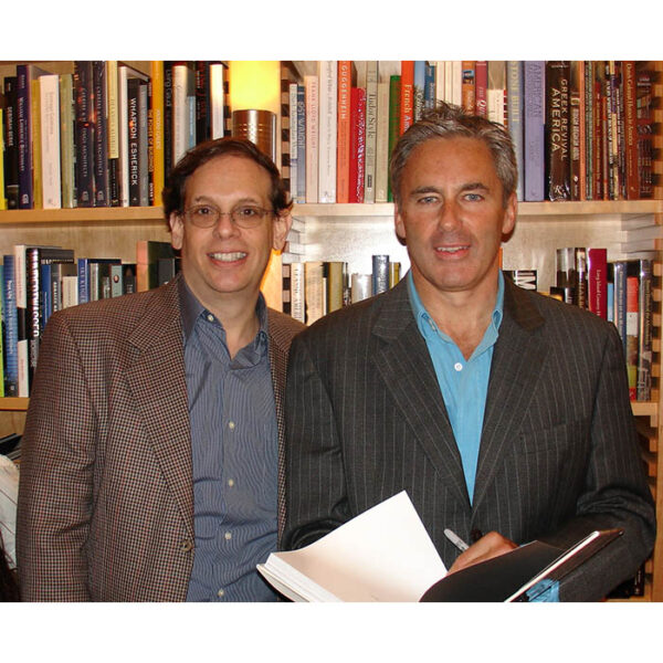 """George Glazer and Campion Platt at the book launch for """"Made to Order"""""""