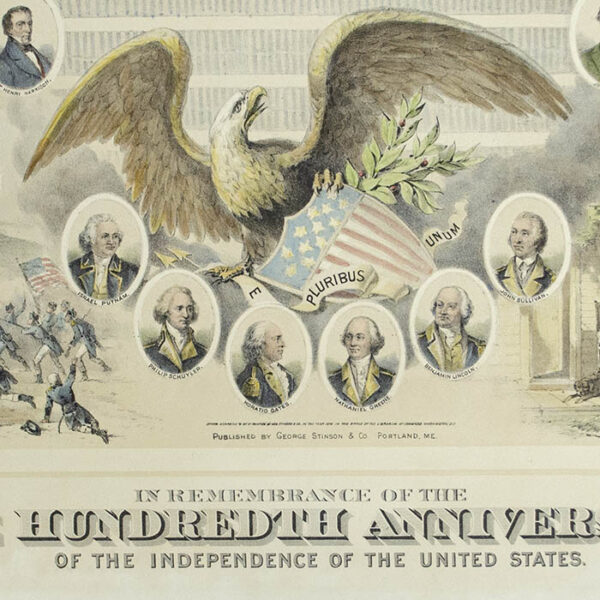 In Remembrance of the One Hundredth Anniversary of the Independence of the United States, detail