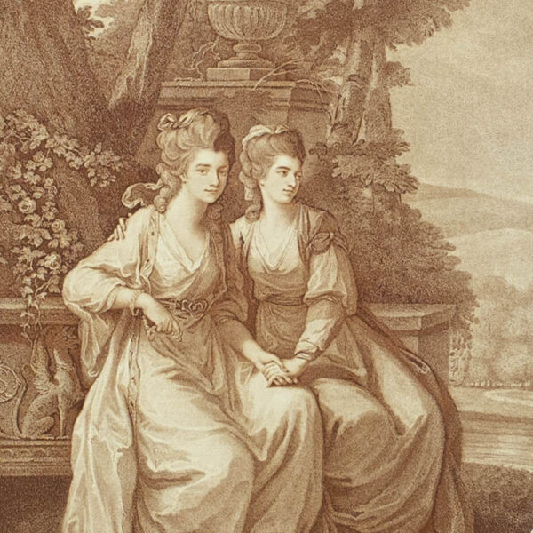 Her Grace the Duchess of Devonshire and Viscountess Duncannon, detail