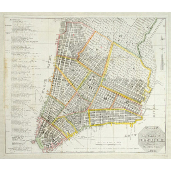 William Hooker, Plan of the City of New York, 1832