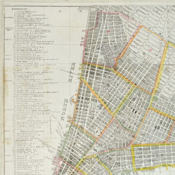 Hooker, Plan of the City of New York, 1832, detail