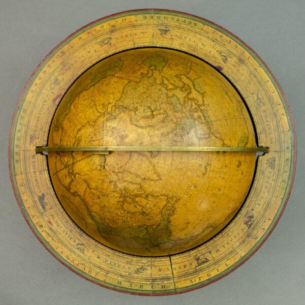 Josiah Loring 12-inch Terrestrial Table Globe, detail