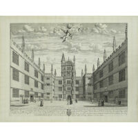 Scholae Publicae Universitatis Oxon [Schools Quadrangle, Bodleian Library, Oxford University]