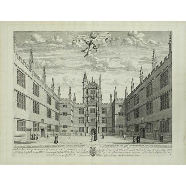 Scholae Publicae Universitatis Oxon [Schools Quadrangle, Bodleian Library, Oxford University]