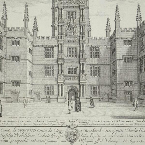 Scholae Publicae Universitatis Oxon [Schools Quadrangle, Bodleian Library, Oxford University], detail
