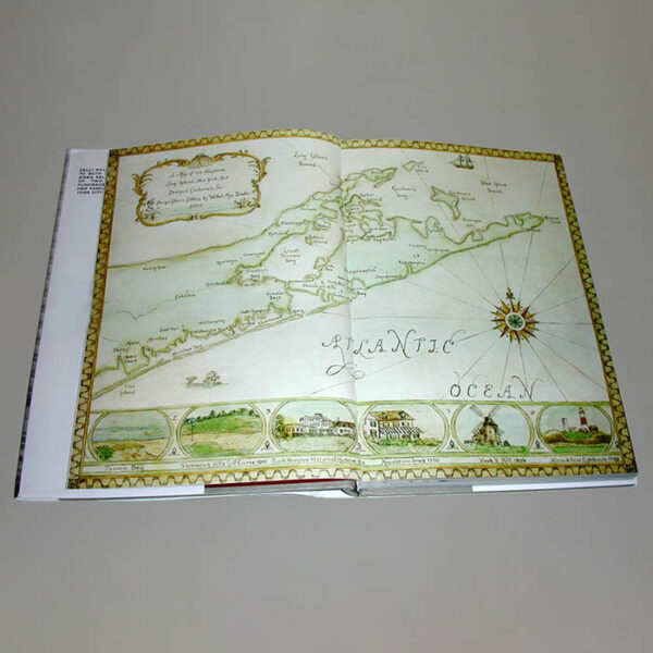 Map of the Hamptons by Donna Walker from George Glazer Gallery in the book In the Spirit of the Hamptons