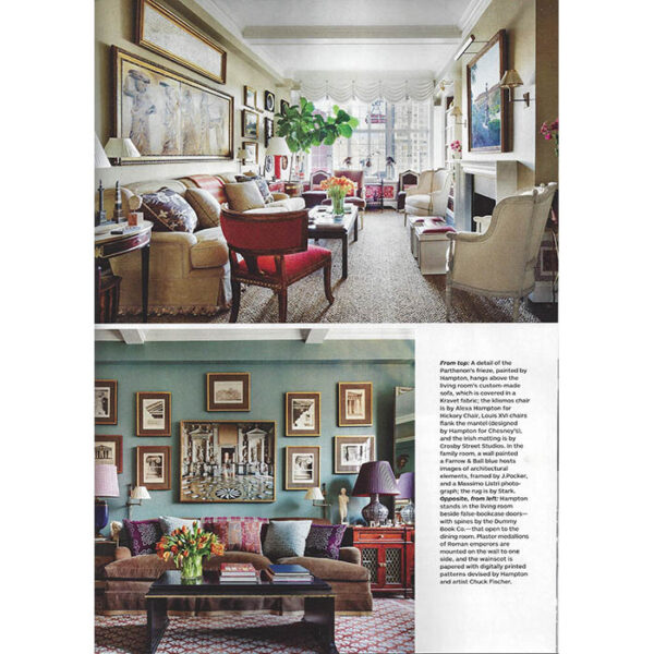 Page from the article where the architectural prints appear. Photos: Scott Frances.
