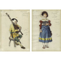 Aleksandr Benois Costume Designs for Faust at La Scala
