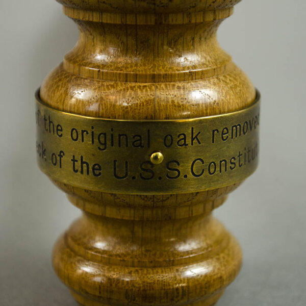 USS Constitution Relic Wood Gavel, detail