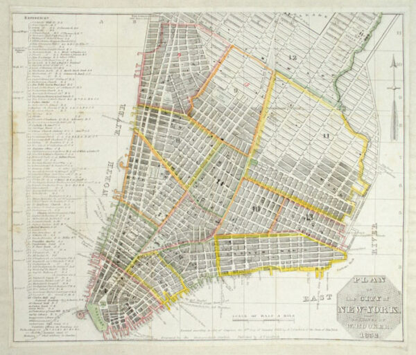 William Hooker's Plan of the City of New York
