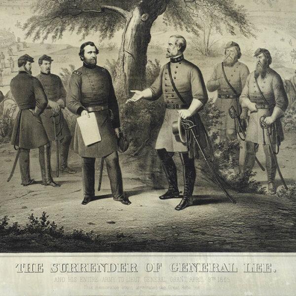 The Surrender of General Lee, detail