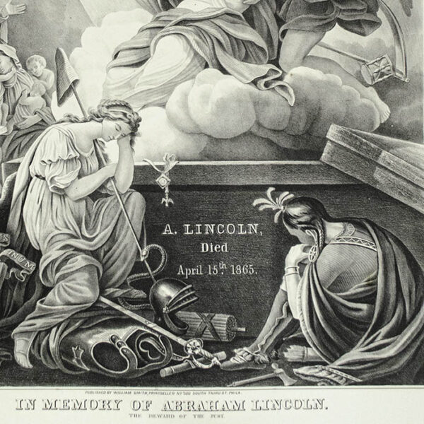 In Memory of Abraham Lincoln: The Reward of the Just, detail