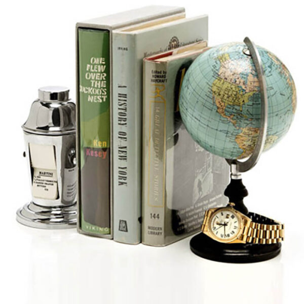 Moda Operandi Father's Day Gift Guide Masthead with globe from George Glazer Gallery