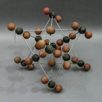 Molecule Model, red and black