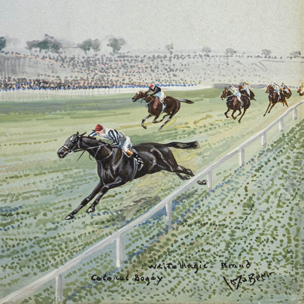 The Race for The Chester Vase — 1914, detail of runners up