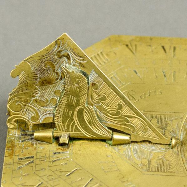 Pierre Le Maire II Butterfield Portable Horizontal Sundial, detail