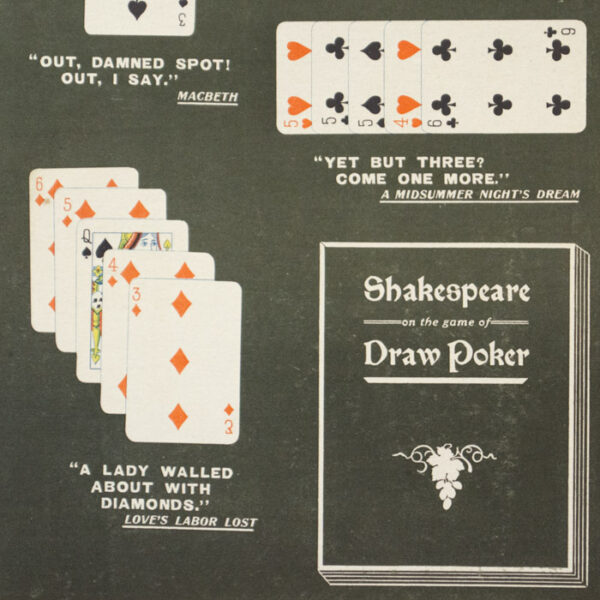 Shakespeare on the Game of Draw Poker, detail