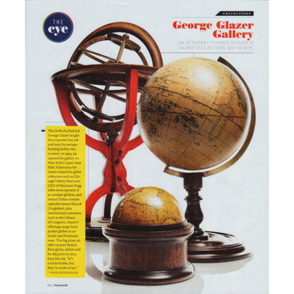 Page featuring George Glazer Gallery in Forbes Life