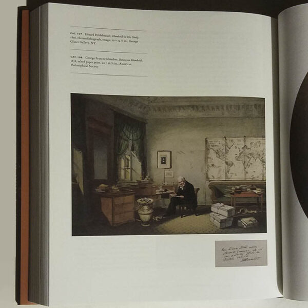 """""""Alexander von Humboldt and the United States: Art, Nature, and Culture,"""" book open to page with the print"""