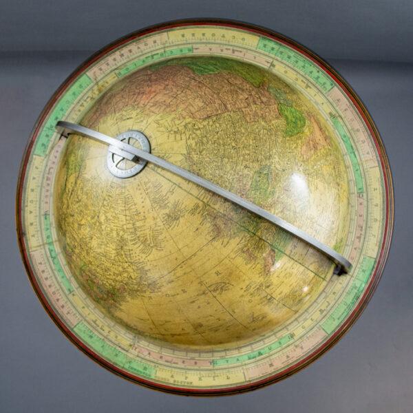 Gilman Joslin 16-Inch Terrestrial Tripod Floor Globe, detail
